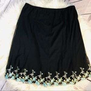 3 for $25 Karen Kane Skirt with Floral Embroidery